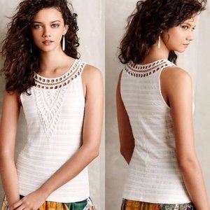 Anthropologie Postmark Aicha White Sleeveless Top
